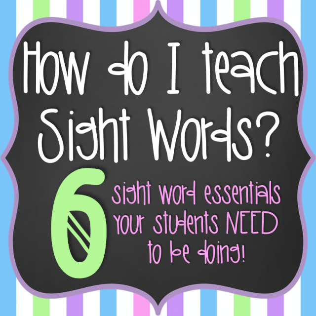 How I teach Sight Words