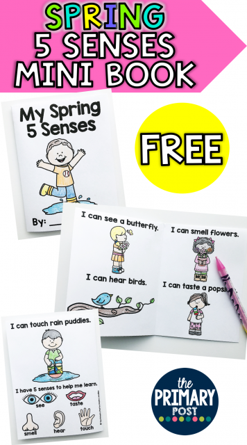 Spring 5 Senses Mini Book FREEBIE