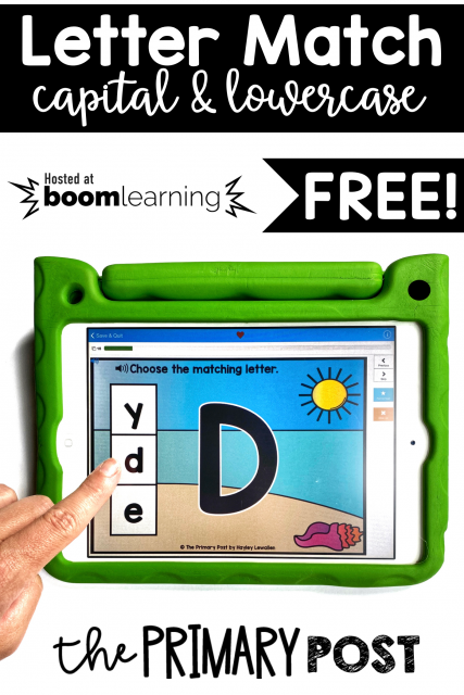 FREE Letter Match Boom Cards