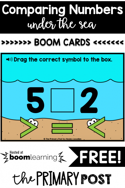 FREE Comparing Numbers Boom Cards