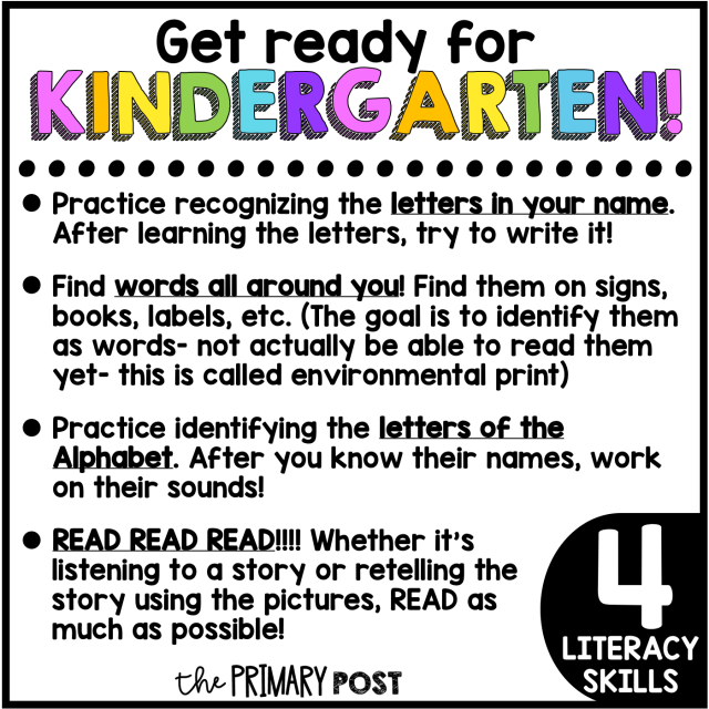Get ready for KINDERGARTEN!