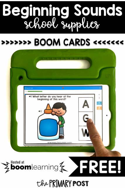 FREE Beginning Sounds Boom Cards™
