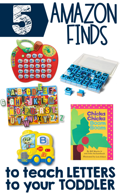 5 Amazon Finds to teach Letters to Toddlers
